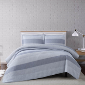 Truly Soft Grey Multi Stripe Full/Queen 3 pc. Quilt Set