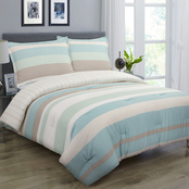 Nouvelle Home Coastal Stripe Comforter Set