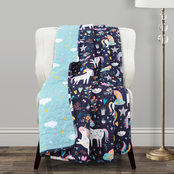 Lush Decor Unicorn Heart Throw