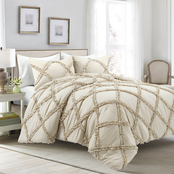 Lush Decor Ruffle Diamond Comforter 3 pc. Set