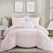 Lush Decor Ticking Stripe Comforter Set