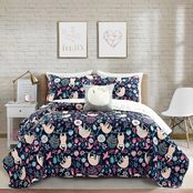 Lush Decor Hygge Sloth Reversible Quilt Set