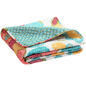 Lush Decor Layla Orange And Blue Throw