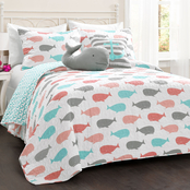 Lush Decor Whale 5 pc. Quilt Set