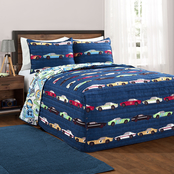 Lush Decor Race Cars Bedspread Set