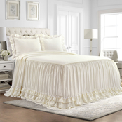 Lush Decor Ella Shabby Chic Ruffle Lace 3 Pc. Bedspread Set