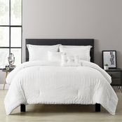 Lush Decor Farmhouse Seersucker 5 pc. Comforter Set