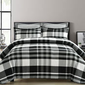 Lush Decor Farmhouse Yarn Dyed Plaid 5 pc. Comforter Set