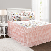 Lush Decor Flutter Butterfly Bedspread Set