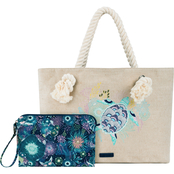 Sakroots Bayside Reversible Royal Blue Seascape Tote