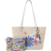 Sakroots Meadow Medium Straw Tote