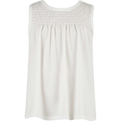Speechless Girls White Smocked Top