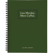 TF Publishing July 2020 to June 2021 Less Monday More Coffee Medium Planner