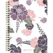 TF Publishing July 2020 to June 2021 Drawn Flowers Weekly and Monthly Planner