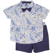 Little Lads Infant Boys 3 pc. Feather Creeper Set