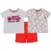 Little Lads Toddler Boys 3 pc. Surfing Camp Shorts Set