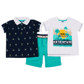 Little Lads Toddler Boys 3 pc. Cool Summer Shorts Set