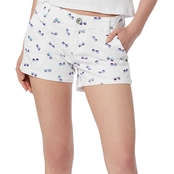 Unionbay Juniors Anika 3.5 in. Sunglasses Print Chino Shorts