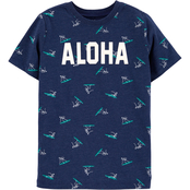 OshKosh B'gosh Little Boys Glow in the Dark Aloha Tee
