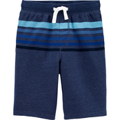 OshKosh B'gosh Boys Striped Pull On Shorts Size 8