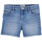 OshKosh B'gosh Girls Rainbow Wash Frayed Edge Shorts