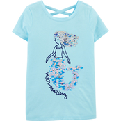 OshKosh B'gosh Little Girls Mermaid Cross Back Tee