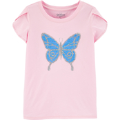 OshKosh B'gosh Little Girls Flip Sequin Butterfly Top
