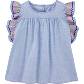 OshKosh B'gosh Girls Flutter Sleeve Top Size 7