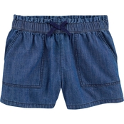 OshKosh B'gosh Little Girls Ruffle Waist Pull On Drapey Shorts