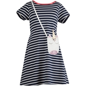Speechless Girls Striped Dress With Purse