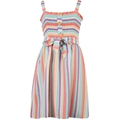 Speechless Girls Smocked Bodice Striped Dress