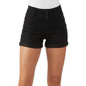 Wallflower Juniors Sassy 3 in. Denim Shorts