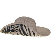 Nine West Brown Combo/Zebra Printed Floppy Hat