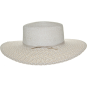 Nine West Combo Scallop Brim Large Boater Hat