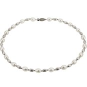 Imperial Sterling Silver Bead and Cultured Freshwater Pearl 18 in. Necklace