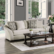 Furniture of America Oacoma Sofa with Pillows
