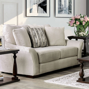 Furniture of America Oacoma Loveseat with Pillows