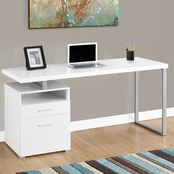 Chelsea Home Webster White and Silver Computer Desk