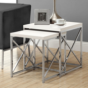 Chelsea Home Simpson 2 pc. Nesting Table Set