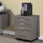 Chelsea Home Hawthorne 3 Drawer Filing Cabinet on Casters