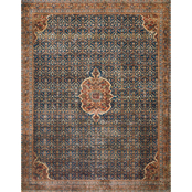 Loloi Layla Printed Persian Style Rug, Blue / Spice