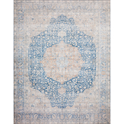 Loloi Layla Printed Persian Style Rug, Blue / Orange