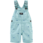 OshKosh B'gosh Infant Boys Shortalls Whale Schiffli