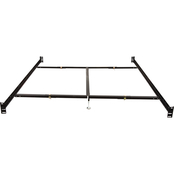 Hollywood Bed Frame Bolt On Bed Rails with Center Support and 2 Glides