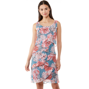 Connected Apparel Floral Chiffon Dress