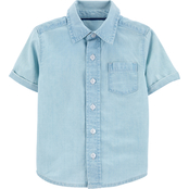 OshKosh B'gosh Toddler Boys White Out Button Up Shirt