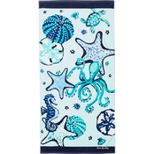 Vera Bradley Mint Sea Life Beach Towel