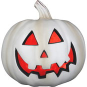 Gemmy Lighted 9 in. Jack O Lantern with Bone Finish