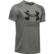 Under Armour Boys Tech Hybrid Print Fill Logo Tee