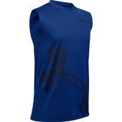 Under Armour Tech Exploded Logo Tank Blue